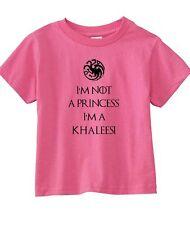 "Game Of Thrones ""I'm Not A Princess I'm A Khaleesi"" Unisex Toddler T-Shirt"