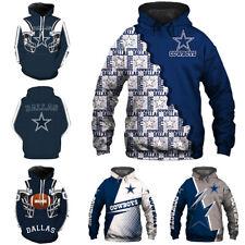 Dallas Cowboys Hoodie 3D Print Sweatshirt Football training Pullover Jacket Coat
