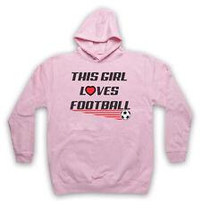 Cette fille adore le football Slogan Sports amant Football Adultes Enfants Sweat à capuche