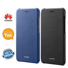 Custodia Cover Flip a Libro Huawei P8 Lite 2017 Originale Nero Black Blu Blue