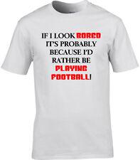 Football Hommes T-shirt I'd Rather Be de jeu sport équipe joueur cadeau