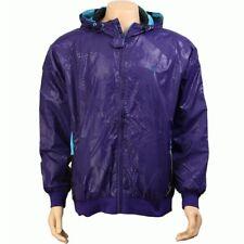 $140 Rock Smith All Patent Hooded tech Jacket (purple) fashion jacket