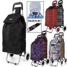 Hoppa grande capacité poids léger à roues shopping chariot poussoir panier sac roues