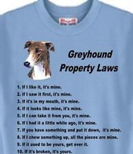 Dog T Shirt - Greyhound Property Laws - Women Men Adopt Rescue Animal # 58