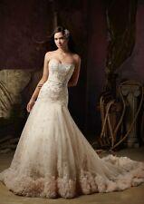 Luxury Wedding Dresses Size 6 8 10 12 14 16 18 Custom Made