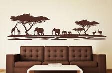 Afrika Safari Savanne Antilope Skyline Tiere Landschaft Wandaufkleber WandTattoo