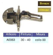 Cerniera per ante in battuta scodellino D.35 mm bronzate ottonate senza collo