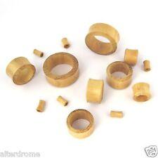 Pair (2 pcs) Organic Jackfruit Wood Flesh Ear Tunnels No Metal