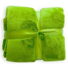 Wohndecke Grün Decke Tagesdecke Kuscheldecke Sofadecke Schlafdecke ÖkoTex Mikrof