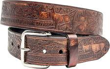 geprägter Gürtel Schnalle Buckle Belt Made inUSA Harley Biker Western Rockabilly