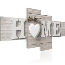 WANDBILDER XXL HOME SWEET HOME HERZ SCANDI SHABBY LEINWAND BILDER m-B-0029-b-i