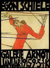 Exposición Arte Egon Schiele 1915 A3/A2 cartel reimpresión