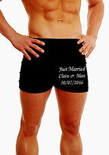 Personalizado Para Hombres Boxer Shorts Underwear Regalo De Bodas Recién Casados Novio pierna