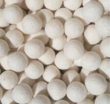 Snow White Felt Balls 2 cm home Crafts Christmas Nursery Garland 100% wool