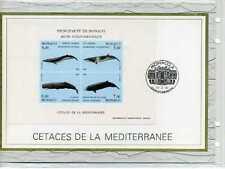 MONACO doc. CEF premier jour - poissons, Cétacés, 1993