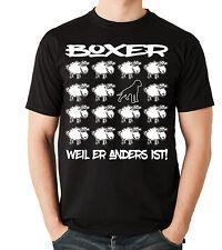 T-Shirt BLACK SHEEP - BOXER deutscher Hund Hunde Fun Men Siviwonder