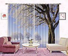 3D Winter Tree 9Blockout Photo Curtain Printing Curtains Drapes Fabric Window CA