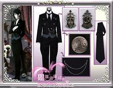 Black Butler Kuroshitsuji Sebastian Michaelis anime Cosplay Costume Uniform Set