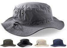 Beechfield NOIR GRIS MARINE VERT CARGO chapeau bob avec bandeau Sueur doublure