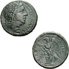 Syrakus Sizilien Hiketas Bronze Zeus Hellanios Adler Stern Sicily Calciati 168