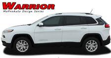 2014-2017 Jeep Cherokee Warrior 3M Pro Vinyl Graphics Stripes Decals Upper Body
