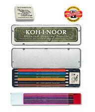 MECHANICAL PENCIL SET KOH-I-NOOR CLUTCH LEADHOLDER 5217 2MM COLOR LEAD VERSATIL