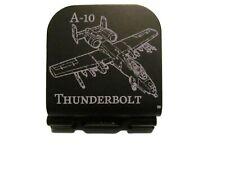 A-10 Thunderbolt  Laser Etched Aluminum Hat Clip Brim-it