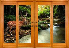 Stickers window trunk the eye Deer ref 2538 ( 10 dimensions )