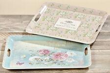 Deko-Tablett Fleur Blumen Kunststoff Vintage Shabby Kunststoff L 40 oder L45 cm