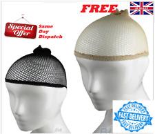 Hair Elastic Wig Cap Fishnet Liner Mesh Stocking Sleep Net Black UK Seller