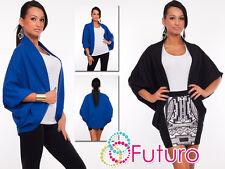 Stylish Womens Jacket Batwing Style Long Sleeve Blazer Cardigan Size 8-12 8332