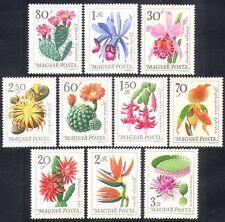 UNGHERIA 1965 Orchidee/Cactus/Cactus/Fiori/Piante/NATURA SET 10 V (n36714)