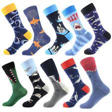 Mens Cotton Socks Warm Fnnny Cartoon Animal Shark Novelty Dress Crew Socks 9-13