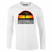 Lion Chant Long Sleeve T-Shirt - Funny joke king savannah Africa retro big cat