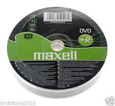 10 DVD +R Maxell vergini 4.7GB 120MIN 16X in SRINK dvdr + 1cd verbatim 275734