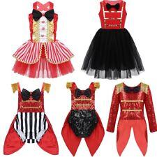 Child Girl Circus Ringmaster Costume Kid Halloween Xmas Party Fancy Dress Up Set