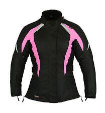 Choc Rose femmes moto motard veste imperméable toutes les tailles