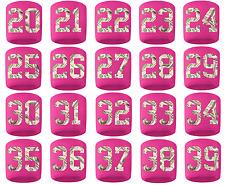 #20-39 Number Sweatband Wristband Lacrosse Softball Volleyball Pink Money Print