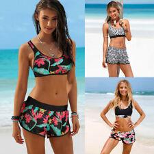 Womens Girls Lady Costume Padded Swimsuit Monokini Swimwear Bikini Set CA