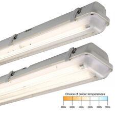 4ft T5 Single or Twin IP65 Waterproof Batten Fitting & 28w 1200mm Fluorescent
