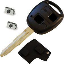 for Toyota Yaris Chiave telecomando a 2 pulsanti riparazione DIY fix kit