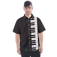 Piano Keys Keyboard Music Short-Sleeve Button Down Shirt Men's PK1