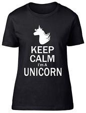 Keep Calm I'm a Unicorn Womens Ladies Short Sleeve T-Shirt