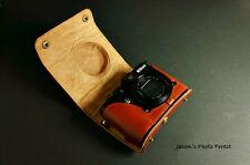 Handmade Vintage Genuine real Leather Full Camera Case bag cover for Nikon P7100