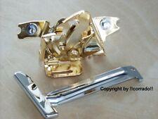 >vergoldet+verchromt< Haubenschloss Golf 3, VW_VR6,G60,16V Schloss >chrom+gold<