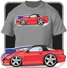 Custom Cartoon Art T-Shirt 1996 1997 Chevy Chevrolet Camaro Z28 RS SS LT-1 V6 V8