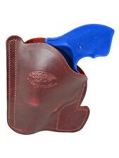 """New Barsony Burgundy Leather Gun Pocket Holster S&W 2"""" Snub Nose 38 357 Revolver"""