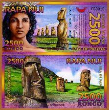Easter Island, 2500 (2,500) Rongo, 2011, Polymer, New, UNC > Beautiful