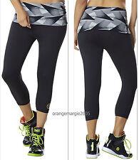 ZUMBA CAPRI LEGGINGS PANTs ~Yoga~Dance~Fitness~Work Out~Cycling~CrossFit  sz.S M