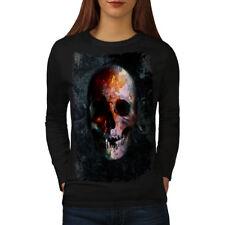 Death Metal Badass Skull Women Long Sleeve T-shirt NEW | Wellcoda